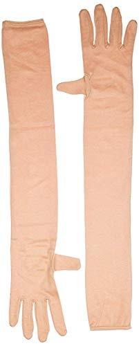 Generic nawani 1 Pair Cotton Full Hand Gloves Sun Protection Gloves for Women Skin Colour