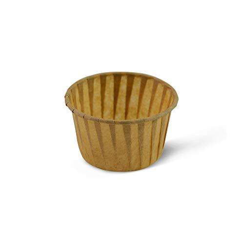 SimpleGood Papel Desechable sin blanquear, Vasos para Hornear, Bizcochos para Magdalenas, Muffins, Llanta Enrollada, 50