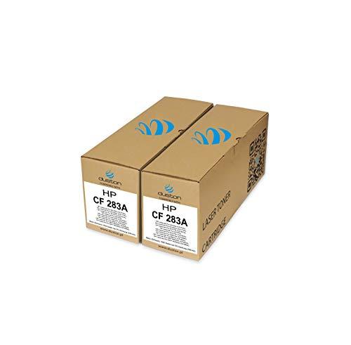 2X CF283A, 83A Gerecyclede zwarte Duston toner, compatibel met HP Laserjet M125 M126 M127F 201 225