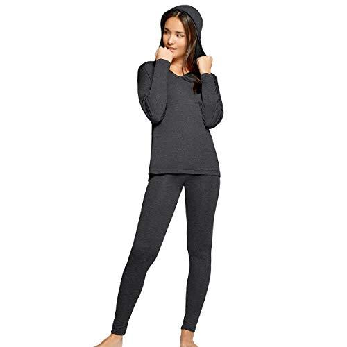 Impetus Woman – Pijama con capucha Confort en Modal Gasolina gris 44-46
