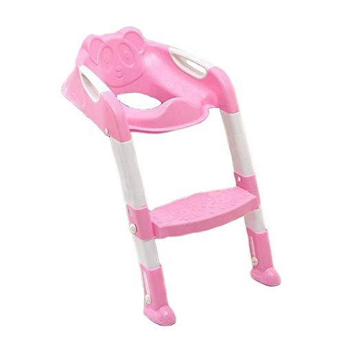 Luoshan Asiento de baño for bebé Potty Asiento de baño for niños con baño y Escalera Ajustable Entrenamiento for Inodoro Infantil Asiento de Seguridad Plegable (Rosa) (Color : Pink): Amazon.es: Electrónica