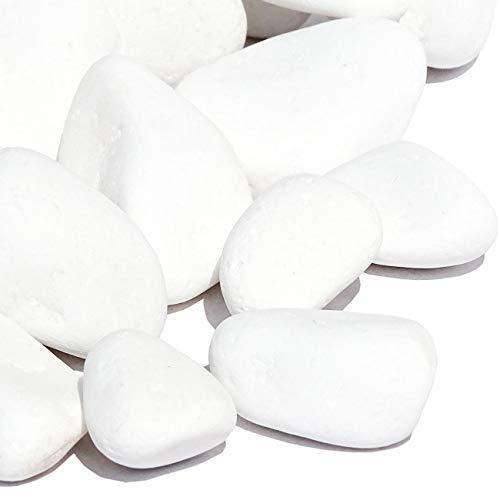 MGS SHOP Marmorkies Snow reinweiß schneeweiss Garten Kies 50 kg (26/40 mm)