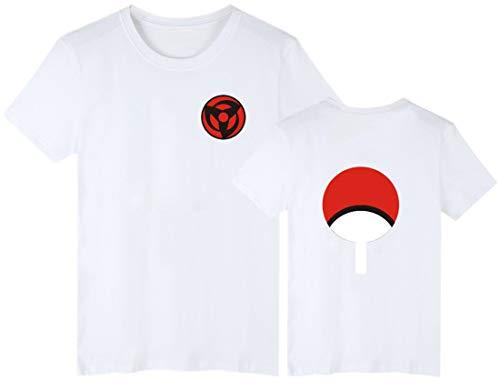 EMILYLE Hombres Naruto Uchiha Camiseta Top Tshirt Clan
