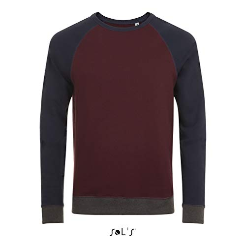 Sols - Unisex Sweatshirt 'Sandro' / Oxblood/French Navy, L