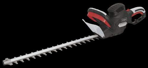 Scheppach Elektro Heckenschere HT600 (600 Watt, Schnittlänge: 600mm, Schnitt- Ø: 24mm, drehbarer Handgriff, Schnellstop-Bremsfunktion, leicht und handlich)