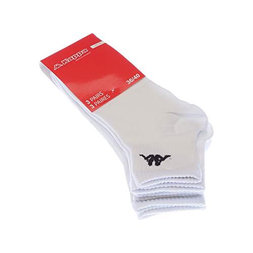 Socke Kurze - 3 pack - ohne Frotte - Multisport - Fine - Coton - Blanc - 36/40