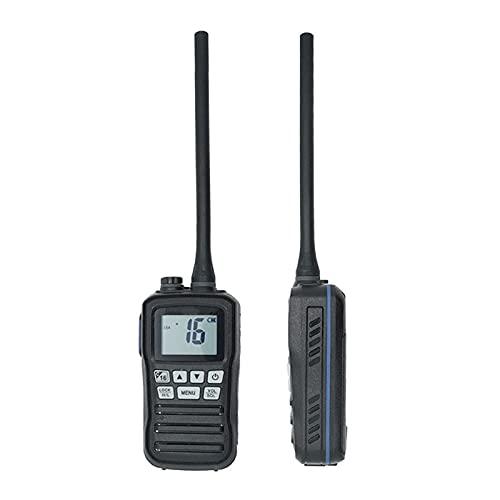 Radio marítimo IP-X7 impermeable VHF 156-162MHZ Transceptor marítimo Profesional Banda marina Walkie Talkie 16 Canal de mano recargable Radio de dos vías para la pesca marina, regalos para hombres