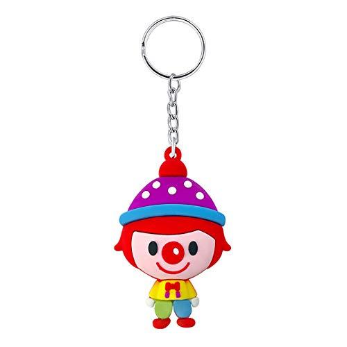 Tas Sleutelhanger Kettingkleine Geschenken Pvc Soft Cartoon Leuke Grote Kop Clown Doll Sleutelhanger Hanger Tas Accessoires 1