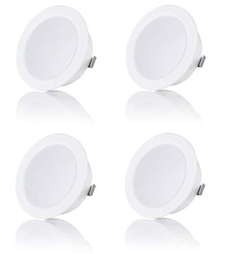 sweet-led 1 - 4er Pack, 3.5W LED , 12V IP44 , Flache Möbelleuchte , Möbel Einbaustrahler Einbauleuchte , Badleuchte Einbauspot , ultra flach Mini Feuchtraum (4er-Weiß)