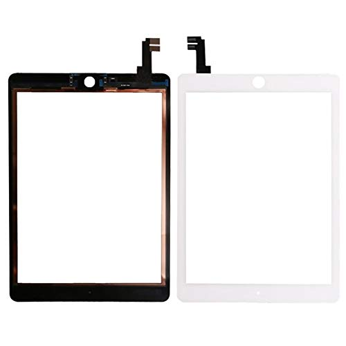 Screen replacement kit Fit For IPad Air 2 2nd Gen Generation A1567 A1566 White Touch Screen Digitizer Glass Lens Repair kit replacement screen (Color : Black)