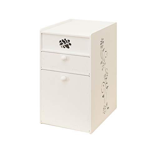 Rangement pour cosmétiques Rangement de maquillage avec 2 tiroirs Salle de bains Chambre Rouge à lèvres Bijoux Rangement de vernis à ongles, Blanc (Color : White)