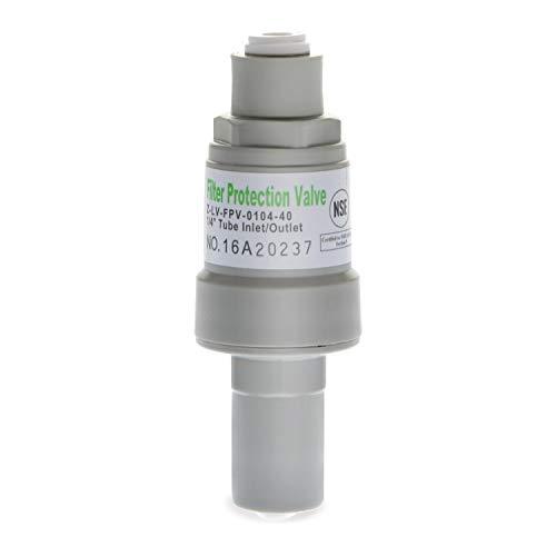 iSpring regulador de presión y válvula de protección para filtros de agua, 1/4-inch Quick Connect