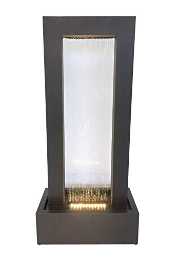 Zinc Metal Wall Of Water Fountain with Light