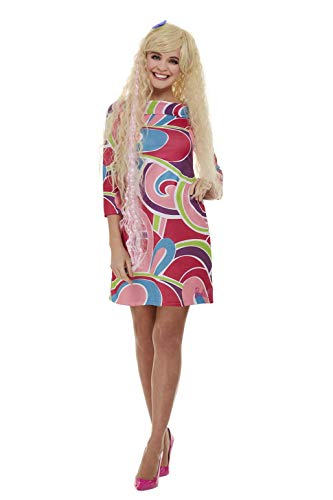 Smiffys Smiffy's 42978M Barbie-Kostüm, offizielles Lizenzprodukt, Women, rose, M - UK Size 12-14