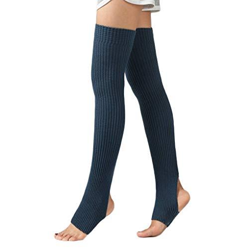 1 Par Mujeres Niñas calentadores de la pierna calcetines largos de los...