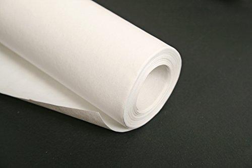 Clairefontaine 395701C Rolle Kraftpapier (ideal für Trockentechnicken, 10 x 1 m, 60 g) weiß