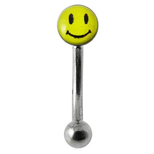 Smiley gezicht logo 16 gaas 316L chirurgisch staal wenkbrauw piercing sieraden
