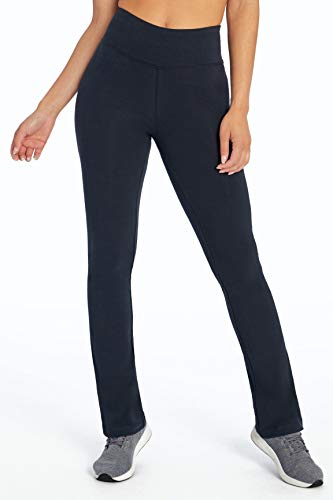 Bally Total Fitness Women's High Rise Tummy Control Pant, Black, Medium