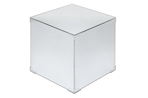 Zeitloses 1920's Bauhaus Deco Design–verspiegelt Beistelltisch Aufbewahrung Cube–New