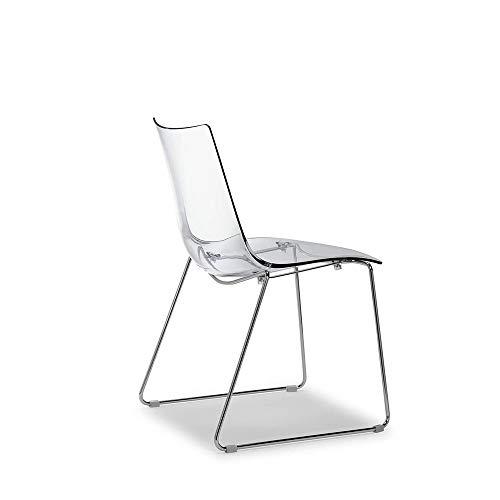 Scab Set 2 Design Zebra Antishock Chaise Pied traîneau Transparent