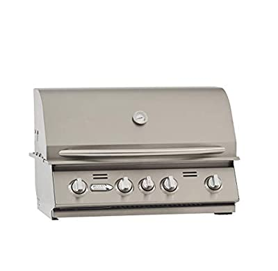 BULLET 86328 4-Burner Built (LP) Grill Head, Stainless Steel