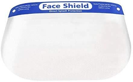 フェイスシールド 5個セット スポンジ ゴム フリーサイズ 透明 飛沫 花粉 ホコリ 保護 衛生 対策 細菌 メンズ レディース 男女兼用 軽量 安全 マスク ウイルス 防塵 防風 予防 ガード 作業 フェイスカバー クリアカバー
