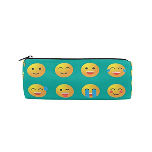 Tenboya Federmäppchen Emoji Set Emoticon Icons Reißverschluss Tasche für Stifte Make-up Pinsel