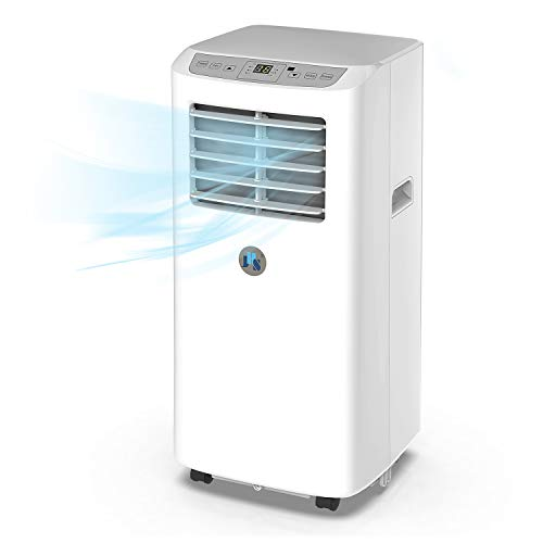 JHS 8,000 BTU Portable Air Conditioner Portable AC Unit, A019-8KR/A Remote Control Small Air Cooler Dehumidifier with Timer, Sleep Mode and 2 Fan Speed