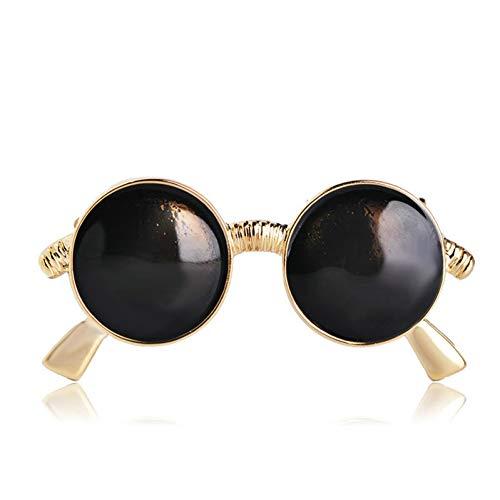 QPODGQ Broche Gafas Negras Forma Broche Mujeres Hombres