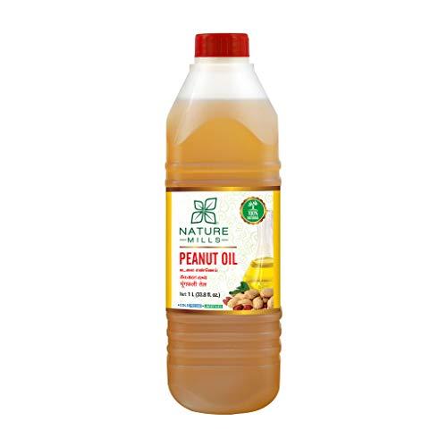 NatureMills Natural Peanut Oil - 1 Liter - 33.8 Fl.Oz - Cold pressed, Unrefined