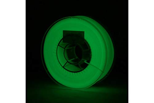 "extrudr® PETG ø1.75mm (0.8kg) 3D printer filament,""GLOW IN THE DARK\"" - Made in EU - highest quality at a fair price!"