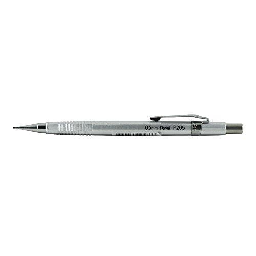 Pentel P205 Sharp Mech Pencil 0.5mm Met.Silvr