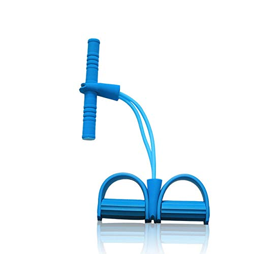 LINGZIA Resistance Elastic Pull Ropes Exerciser Rudergerät Belly Resistance Band Home Gym Sporttraining Elastic Bands für Fitnessgeräte, Blau