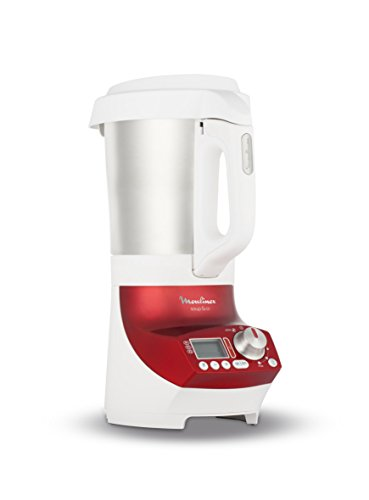 Moulinex LM906110 Blender Chauffant Soup & Co Mixeur Soupes Gaspachos Smoothies Compotes 1100W 2L Rouge
