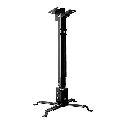 Eovymovy Staffa Proiettore Soffitto,Porta Proiettore da Soffittoper Videoproiettore per Casa Ufficio, Staffa Regolabile per Proiettore 40-64cm (Nero)