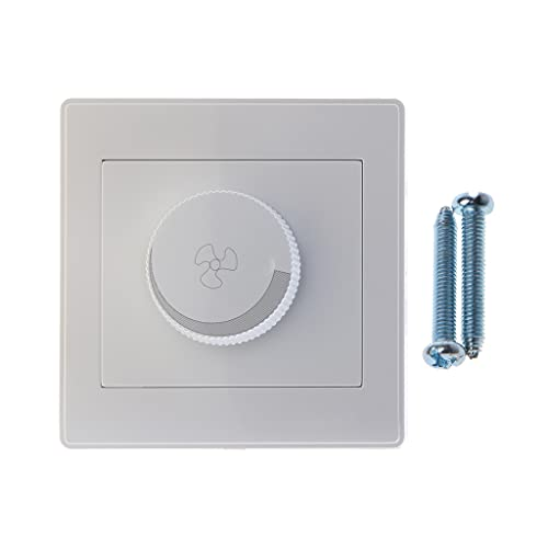 DREAMDEER Ajuste del Ventilador de Techo Interruptor de Control de Velocidad Botón de Pared Interruptor de atenuación