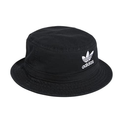 adidas Originals Unisex Washed Bucket Hat, Damen Unisex-Erwachsene, Mütze, Originals Washed Bucket Hat, schwarz/weiß, Einheitsgröße