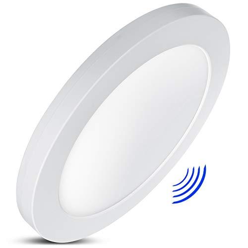 LED4U LD140 LED-paneel met kleurtemperatuurinstelling WW 3000K + NW 4000K + CW 6000 K plafondlamp super slim design 19 mm (18W met magnetronsensor), 18 W