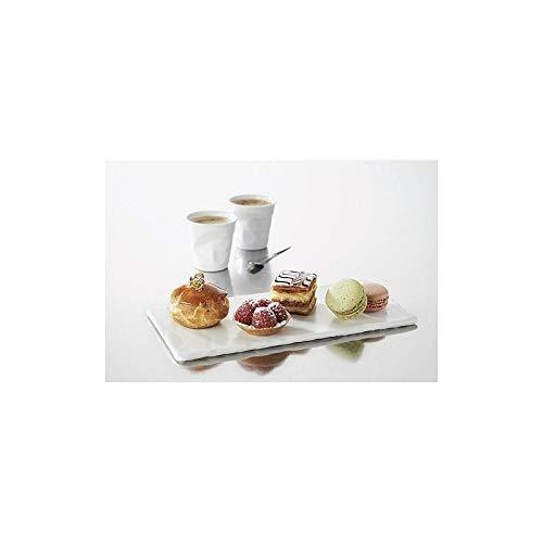 Assiette rectangulaire basalt