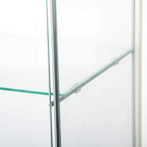 Huimei2Yコレクションケース強化ガラスキャビネット4段セットフィギュアケース高さ163cmブラック