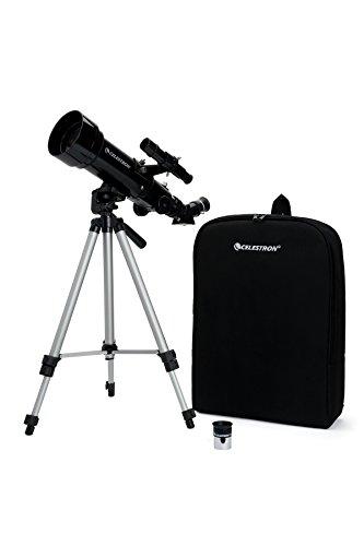 Celestron - Telescopio da viaggio con rifrattore outfit 70, oculare addizionale di 4 mm e 3 lenti di Barlow