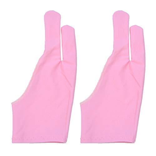 yanni 1 Paar Zweifinger-Handschuhe für Künstler, für jedes Grafik-Tablet, reduziert Reibung, Papier, Skizzieren, linke oder rechte Hand, einfarbige Fäustlinge