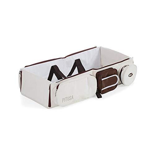 Innovations MS pitusa – Matelas pour lit bébé, blanc et marron chocolat