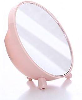 化粧鏡、収納ボックス化粧ギフトとピンクのシンプルなラウンドテーブル化粧鏡