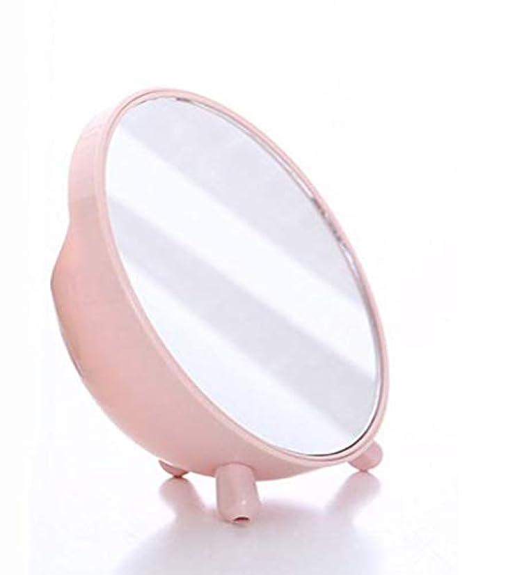 ラダ器官織る化粧鏡、収納ボックス化粧ギフトとピンクのシンプルなラウンドテーブル化粧鏡