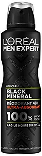 L'Oréal Paris - Men Expert - Déodorant Homme Action 48h - Black Mineral