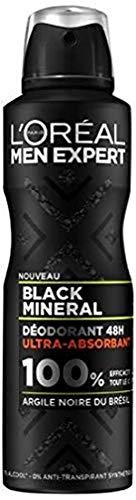 L 'Oréal Paris Men Expert Black Mineral Desodorante Hombre 48h atomizador hombre 200ml