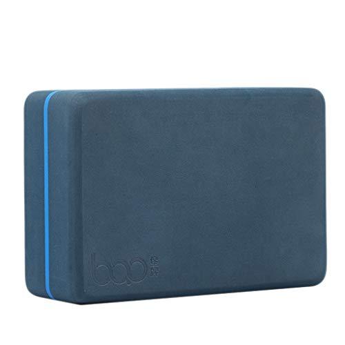 GCX Ladrillo de yoga elástico de alta densidad Iyengar respetuoso con el medio ambiente de EVA engrosado, equipo auxiliar de yoga para principiantes, resistencia (color: azul marino)