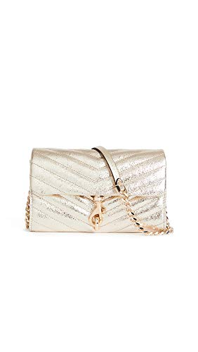 Rebecca Minkoff Women's Edie Wallet On A Chain, Champagne, Gold, Metallic, One Size