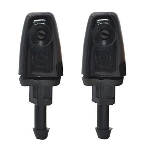 prasku Juego de 2 Boquillas de Arandela de Faro Delantero de 60 Mm para Mazda 6 GG1 2008, Color Negro